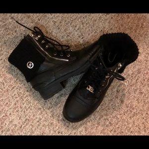 Women's Michael Kohrs Leather Boots Size 5 Black
